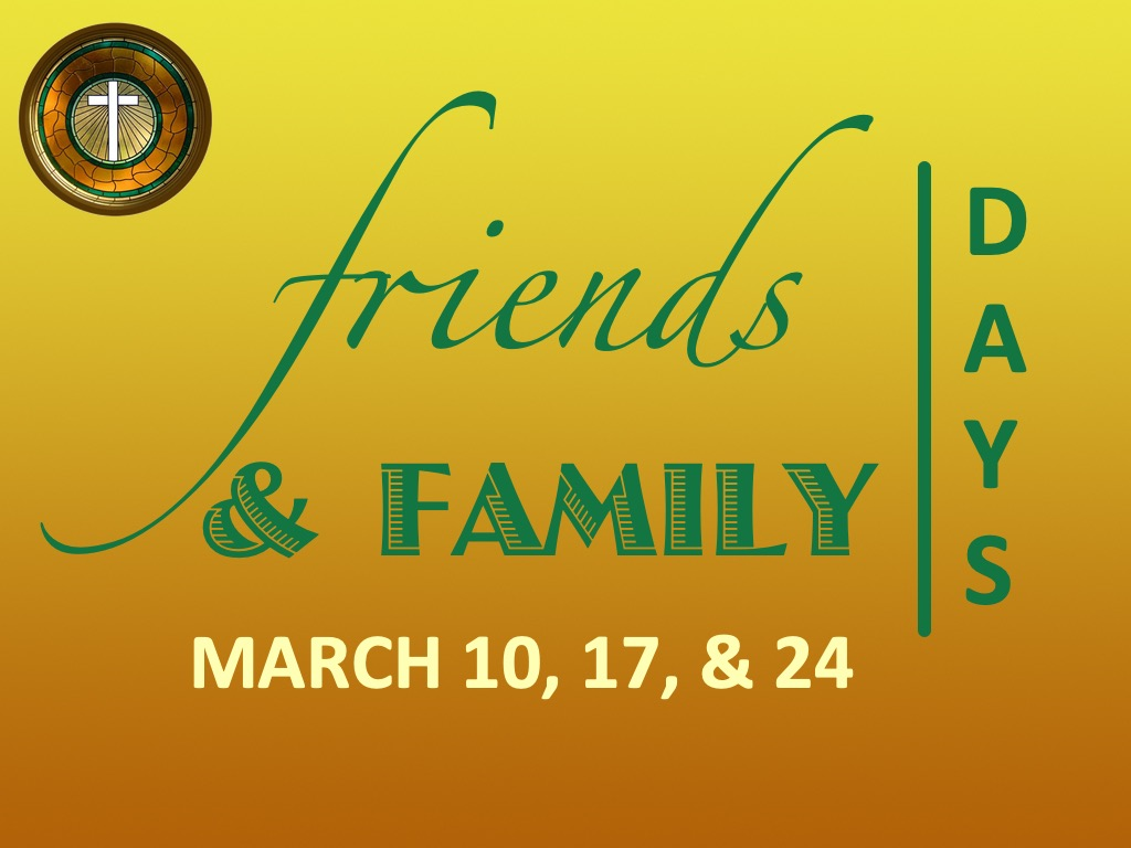 Friends and family days 2019